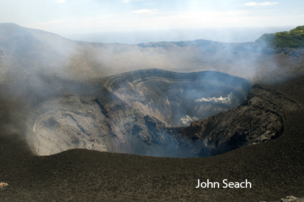 yasur volcano crater